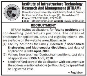 iitram recruitment