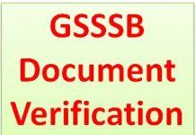 GSSSB Document Verification Programme