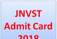 JNVST Admit Card