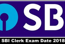 SBI Clerk 2018 Exam Date