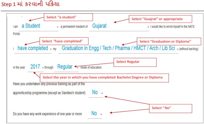 GTU Apprentice Bharti registration