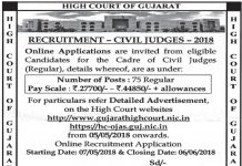 Gujarat High Court Civil Judge Recruitment