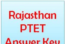 Rajasthan PTET Answer Key