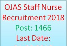 OJAS Staff Nurse Recruitment 2018