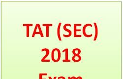 TAT Secondary Exam 2018