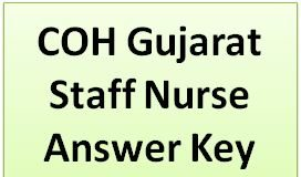 Gujarat Staff Nurse Answer Key