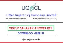 UGVCL Vidyut Sahayak Answer Key