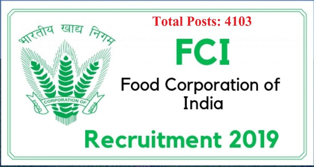 fci recruitment 2019