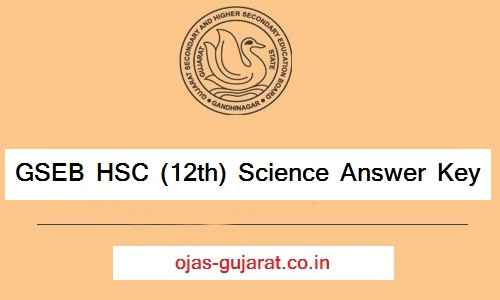 GSEB HSC 12th Science Answer Key