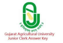 Gujarat Agricultural University Junior Clerk Answer Key