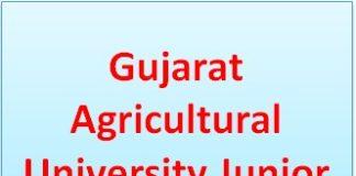 Gujarat Agricultural University Junior Clerk Result 2020