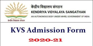 KVS Admission 2020-21