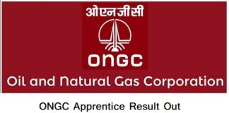 ONGC Apprentice Result