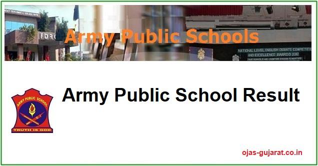 Army Public School Result