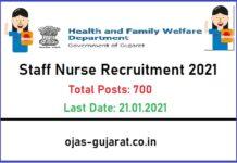 GUJHEALTH Staff Nurse Recruitment