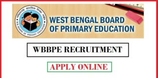 WBBPE Recruitment