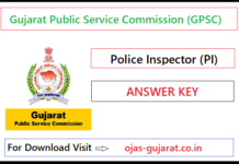 GPSC PI Answer Key