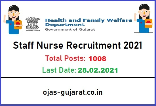 GUJHEALTH Staff Nurse Recruitment