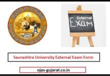 Saurashtra University External Exam Form