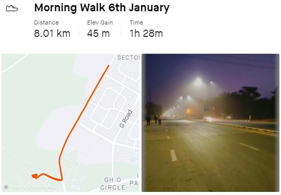 morning walk track app
