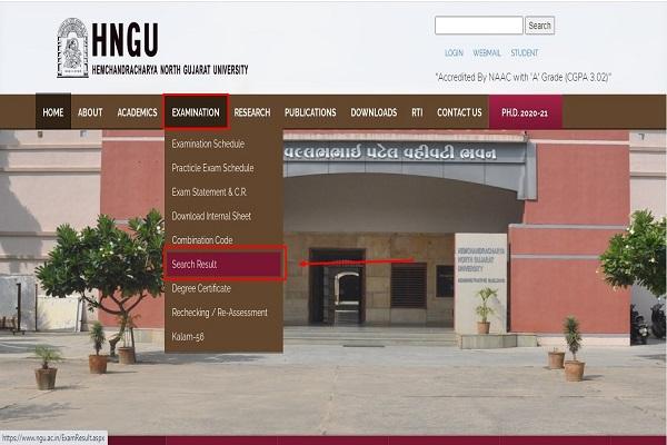 search hngu result