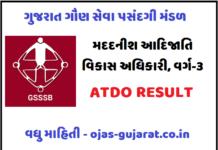 GSSSB ATDO Result